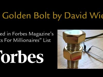 The Golden Bolt Adult Fidget featured in Forbes Magazine